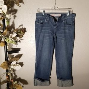 Mossimo supply co. Capris crop low rise size 5
